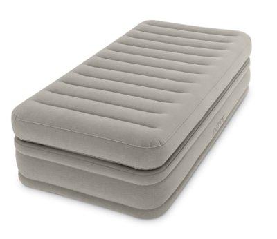 Надувная односпальная кровать со встроенным насосом 220В 99х191х51см Intex 64444