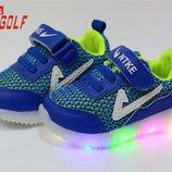 Классные кроссовки с подсветкой Jong Golf р.21-26