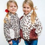 Курточки для девочек трикотажные, рост 86-110