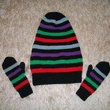 Комплект шапка чулок и рукавички