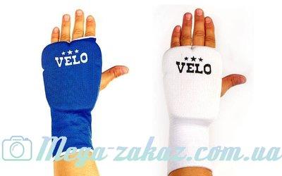 Накладки для карате удлиненные перчатки для карате Velo 10019 хлопок/эластан, L/XL