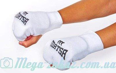 Накладки для карате перчатки для карате Matsa 0009 хлопок/эластан, XS-XL