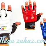 Перчатки для тхэквондо с фиксатором запястья защита кисти WTF 2310 3 цвета, XS-XL