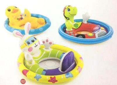 Детский надувной круг - плотик для плавания 59570 Уточка, черепашка .зайчик