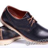Levi's 52 - 01 кожаные мужские туфли в стиле casual черные