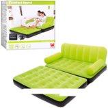 Надувной диван трансформер Bestway 67356-1 188x152x64 см. с насосом