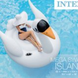 Intex 56287 Мега остров плот Лебедь