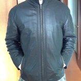 Курточка мужская кожаная коричневая р.L