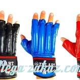 Перчатки боевые шингарты Zel 4225, кожа 3 цвета, M/L/XL