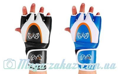 Перчатки для смешанных единоборств MMA RIV 3305 кожа, 2 цвета, M/L/XL