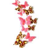 3 D бабочки с принтом для декора интерьера