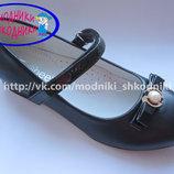 Туфли нарядные на девочку синие Clibee D-510 р.31-36 туфлі святкові сині