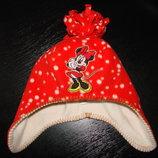 деми шапка Disney 48-50 см 2-4 года как новая Верх-Флис,подкладка-Флис