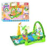Детский коврик для малышей Тропический лес 3059