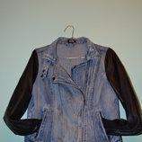 Стильная джинсовая куртка-косуха G21 от ведущего английского бренда George. Размер 42 англ.14 .
