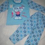 Новая пижамка с начесом на девочку, р.60 104-110 , смотрите замеры