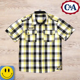 Рубашка C&A 9-10 лет, 134-140 см. Cостояние новой. here there, для мальчика