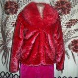 Яскрава фірмова шубка для модниць MQKU, L, Китай.