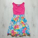 Яркое платье для девочки. Y.D. Размер 10-11 лет. Состояние новой вещи