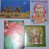 новые открытки разная тематика Новый Год пустыня Англия винтаж