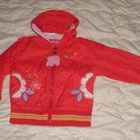 Куртка ветровка детская для девочки 1-4 года