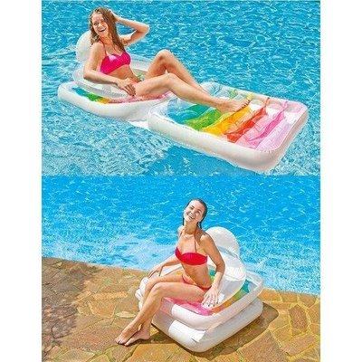 Матрас-Кресло пляжный надувной 2 в 1 Intex 58847