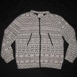 11-12 лет, куртка кофта на молнии Zara махровая, с орнаментом