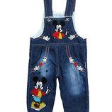 Теплый джинсовый комбинезон Mickey Mouse