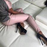Женские лосины Эко кожа кож зам кожаные Весенние модели Разные цвета