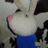шикарная мягкая игрушка друг свинки Пеппы Peppa Pig Кролик Ричард ABD Англия оригинал 53 см