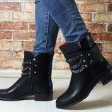 Женские кожаные ботинки болты Hermes