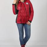 Теплая демисезонная куртка в спортивном стиле для беременных
