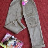 Легкие летние брючки / брюки / штаны / штаники / джинсы / чиносы для девочки