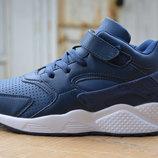 Кроссовки высокие Nike Air Huarache найк хуарачи blue синие