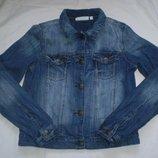 стильный джинсовый пиджак для девочки 11-12 лет 142-156 см