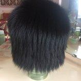 Зимняя женская шапка из натурального меха песца