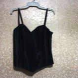 р. 42-44 L вечерний корсет блуза топик PAULA RICHI фирма на подкладке, новое