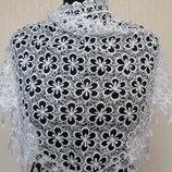 платок-косынка шаль очень красивая белая ажурная большой размер