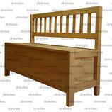 Скамейка деревянная с ящиком для хранения для дома, дачи