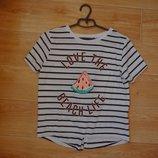 Полосатая футболка с арбузом M- L размера