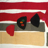 Шарф шапка повязка вязаный шерсть