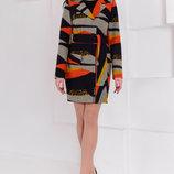 пальто женское шерсть принт новое Украина s m l
