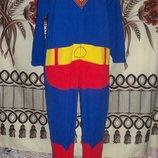 Фирменная пижама-слип Кигуруми Супермэн Primark Cedarwood state, XS, футужама.