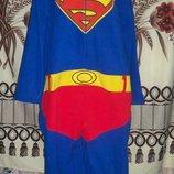 Фирменная пижама-слип Кигуруми Супермэн Primark Cedarwood state, XL, футужама.
