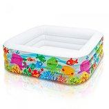 Надувной бассейн для детей Аквариум 57471