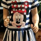 Летнее платье для девочки Минни
