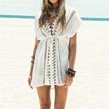 женская туника пляжная Хит ажурная летняя платье пляжное женское сарафан