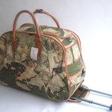 Дорожная сумка на колесиках, среднего размера