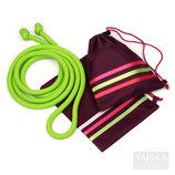 Чехол для скакалки гимнастической Бордовый с полосами