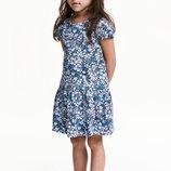 Платье H&M короткий рукав Незабудки Размеры на 2-10 лет